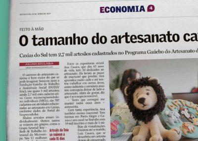 Teia no Jornal Pioneiro