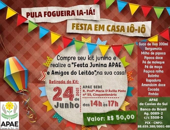 Apae Caxias do Sul está com Kits de Festa Junina à venda